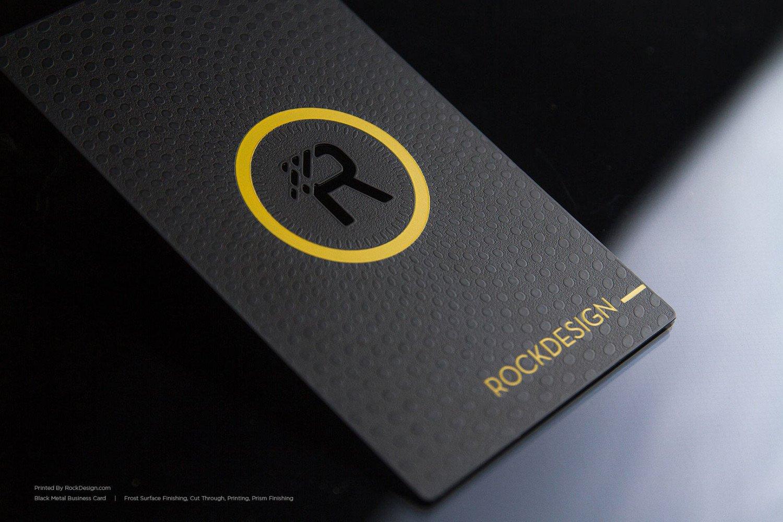 Luxury Black Metal Business Cards