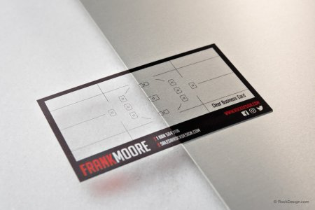 Plastic card template with print service   RockDesign com Camera lens plastic printed template 3