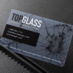 Clear Uv Print White Ink Plastic Credit Card Size Business Card Template Top Glass