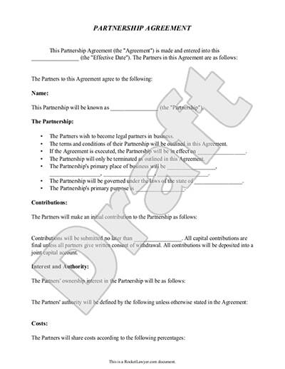 Sample partnership agreement this partnership agreement is made this _____ day of _____ 2xxx , by and between partner 1 and partner 2. Free Partnership Agreement Free To Print Save Download