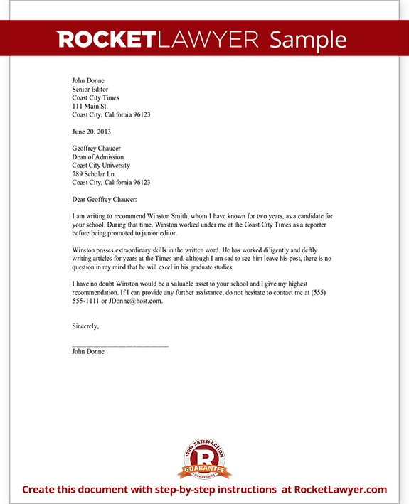 Recommendation Letter Professional Sample   Cover Letter Templates Sample Letter Of Recommendation For Residency Personal