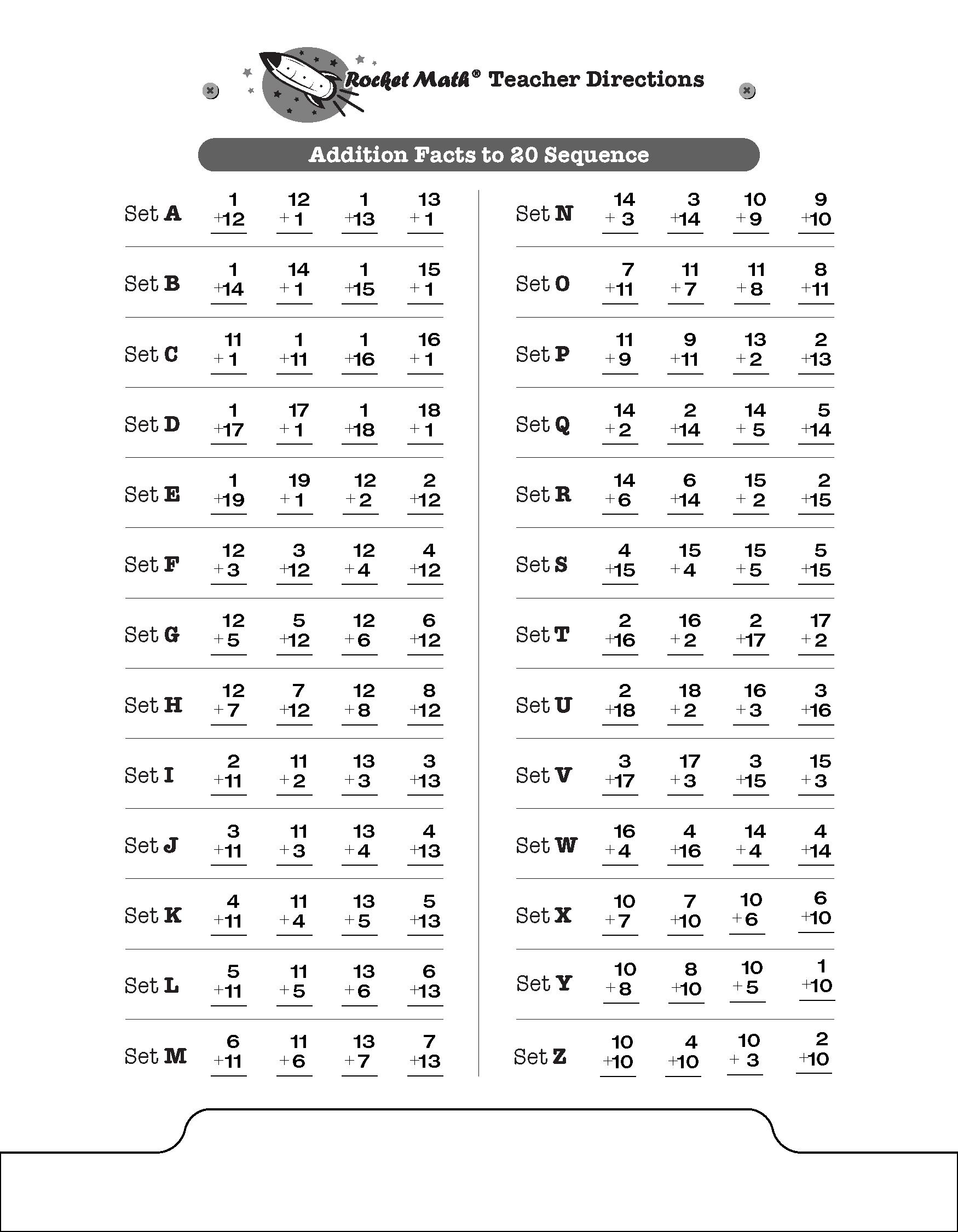Adddition Rocket Math