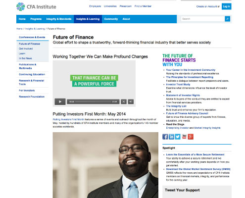 Future of Finance Website