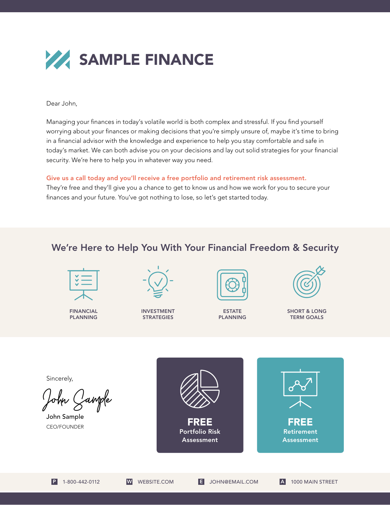 You'll be able to zero in on proven marketing tools that will be most effective for your unique financial advisory practice. 3 Amazing Financial Advisor Marketing Letters You Can Send