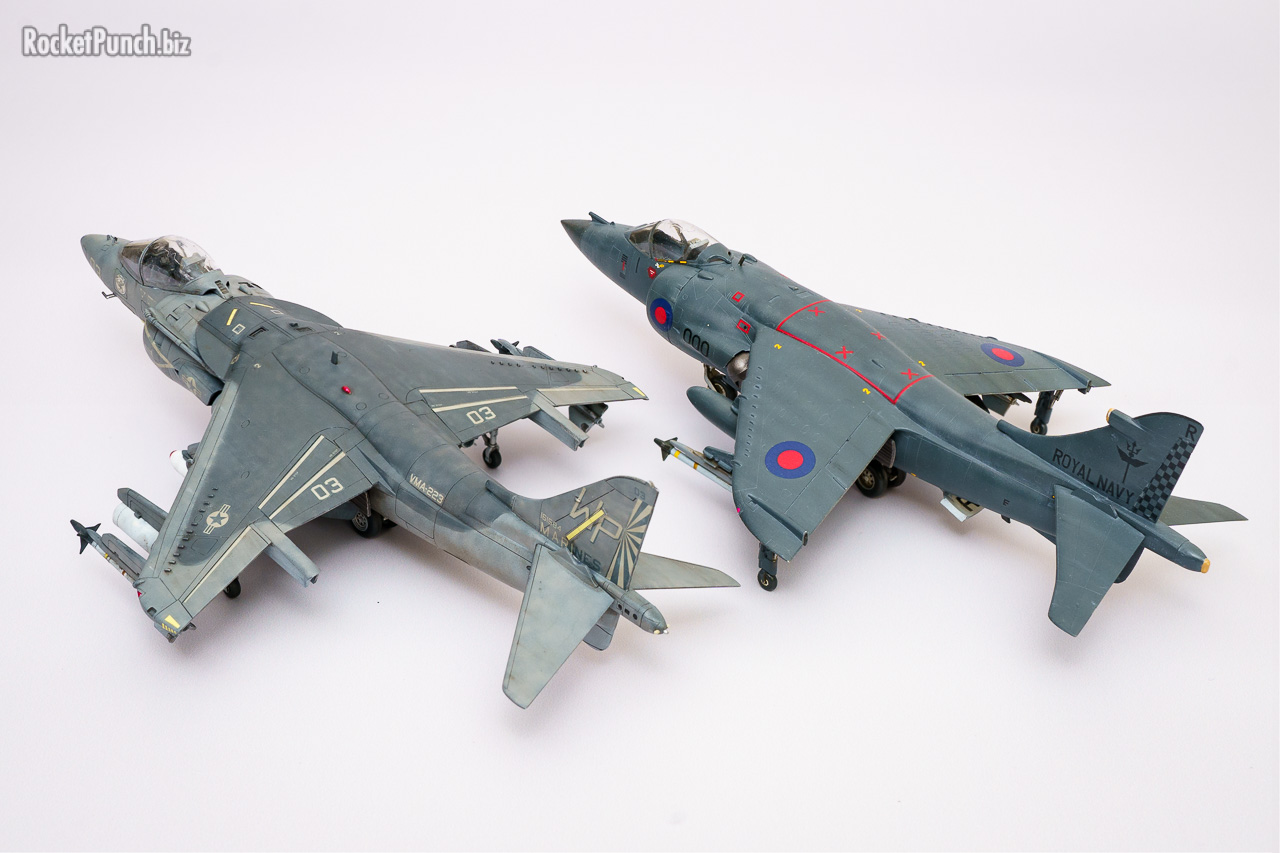 Both generations of the Harrier