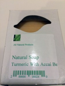 natural soap turmeric acai