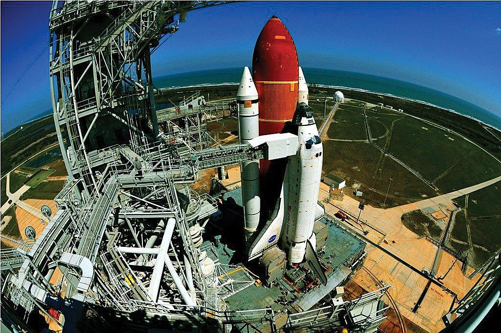 Atlantis atop Pad 39A for STS-135. Credit: Julian Leek