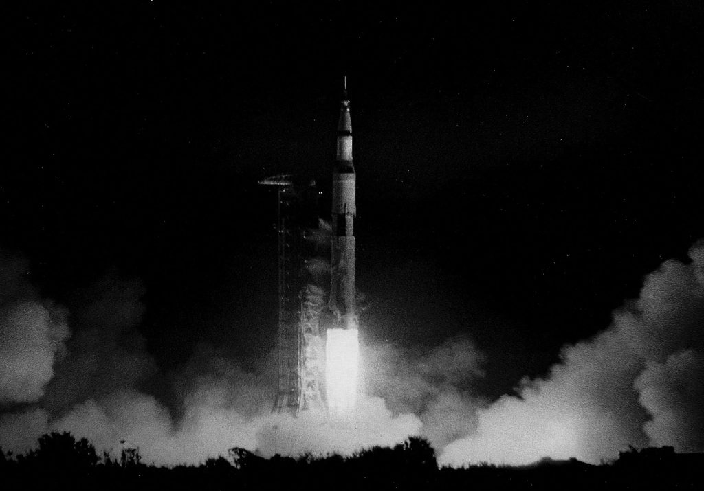 Apollo 17 liftoff. Credit: Julian Leek