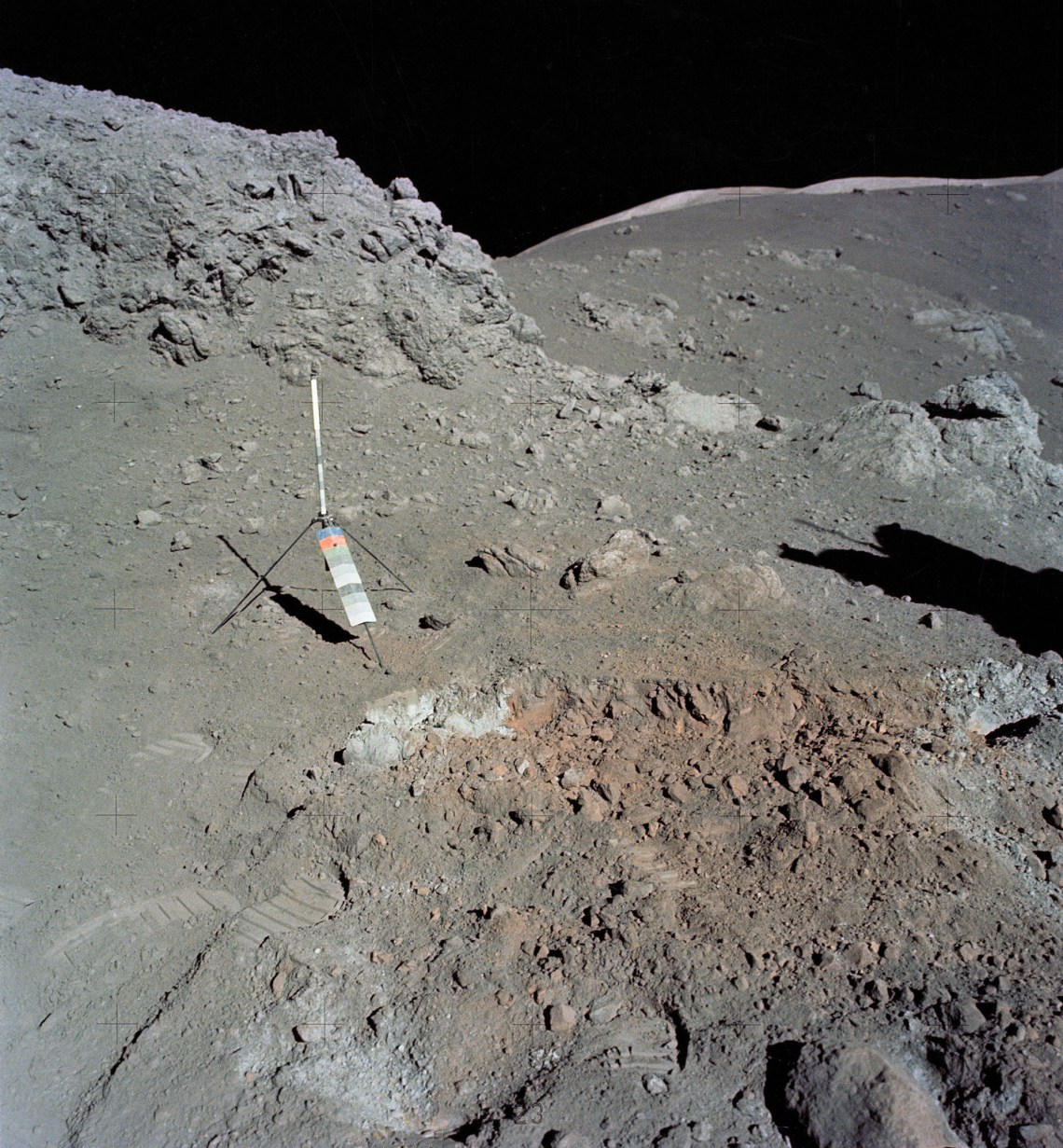Harrison Schmitt discovered the 'orange soil' on the Moon shown above. Photo: NASA