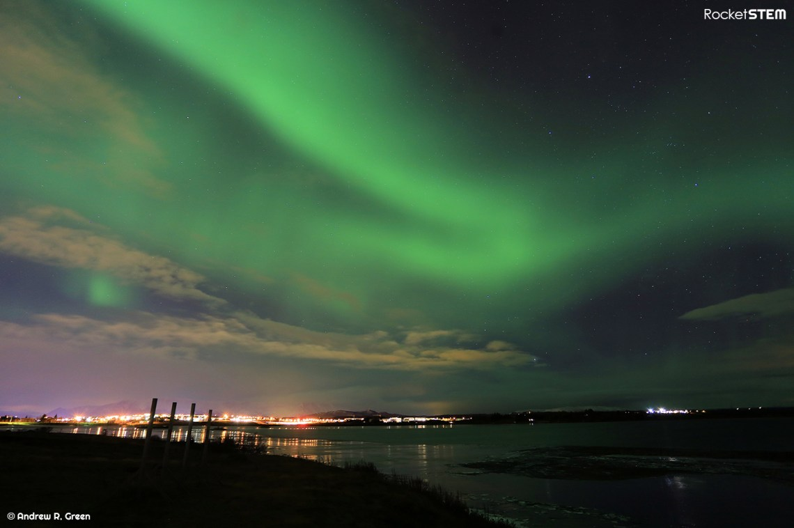 Aurora Borealis as seen in the skies near Reykjavik, Iceland. Photo: Andrew Green