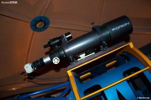 Finder scopes piggy-backed on the main telescope.  Photo: Mike Barrett