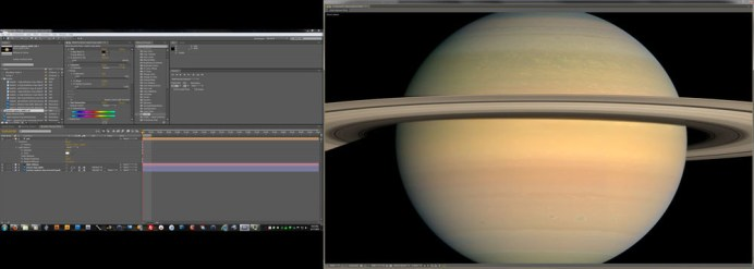 """In Saturn's Rings"" is animated from a million-plus images from NASA and other missions using off-the-shelf and customized software. Image: SV Studios"