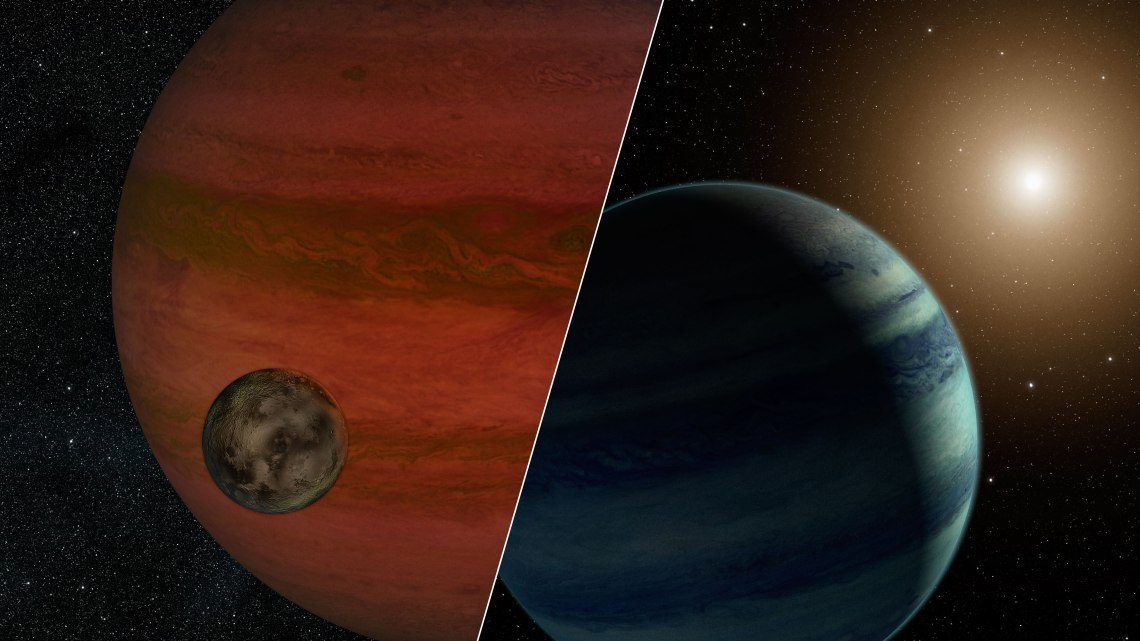 """Researchers have detected the first """"exomoon"""" candidate – a moon orbiting a planet that lies outside our solar system. Credit: NASA/JPL-Caltech"""