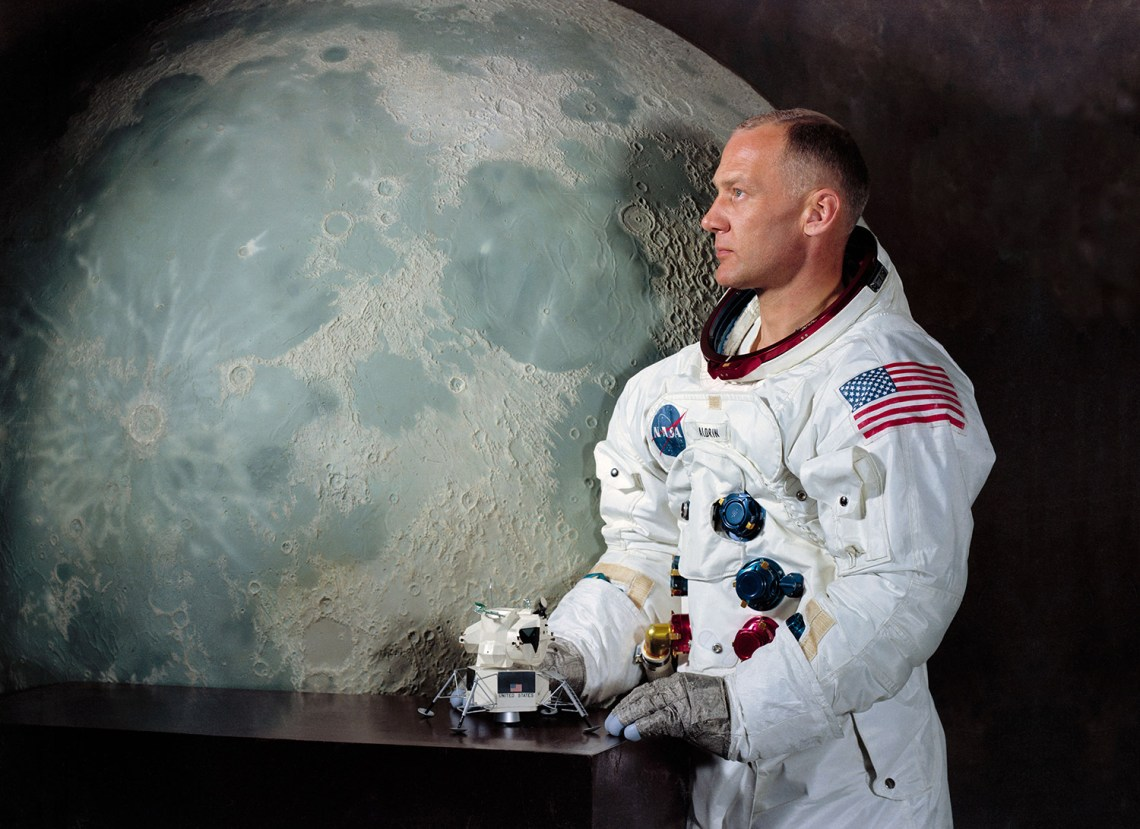 An official NASA portrait of astronaut Buzz Aldrin.  Credit: NASA via Retro Space Images