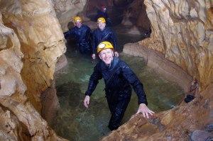Tim Peake spent five days exploring caves in Sardinia as part of his training.   Credit: ESA