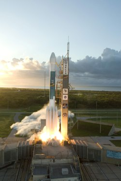 Just after sunrise on Sept. 27, 2007, the Delta II rocket carrying NASA's Dawn spacecraft rose from its launch pad to begin its 1.7-billion-mile journey through the inner solar system. Credit: NASA/Tony Gray & Robert Murray