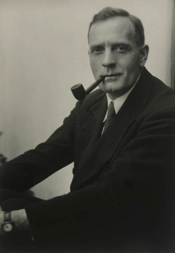 Studio Portrait of Edwin Powell Hubble, dated 1931. Photographer: Johan Hagemeyer