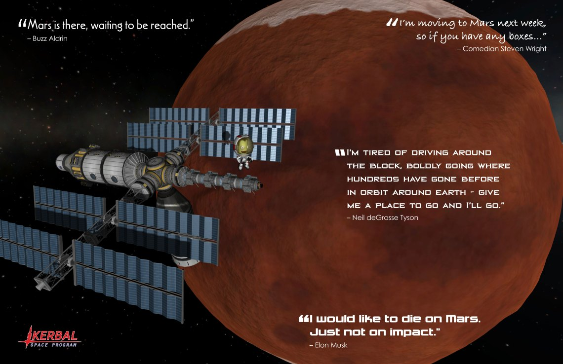 KERBAL SPACE PROGRAM DUNA (Mars) POSTER. Credit: Squad, Monkey Squad S.A de C.V.