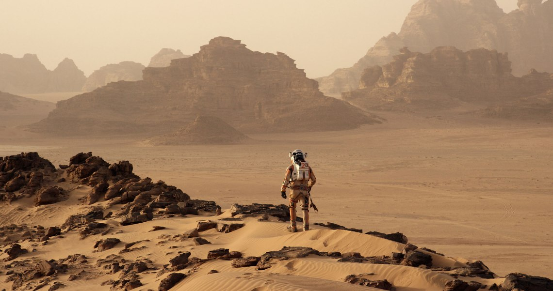 Astronaut Mark Watney finds himself stranded and alone on the Red Planet. Credit: Twentieth Century Fox Film Corporation