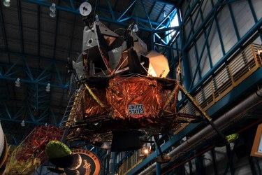 Unflown Lunar Excursion Module. Credit: Lloyd Campbell