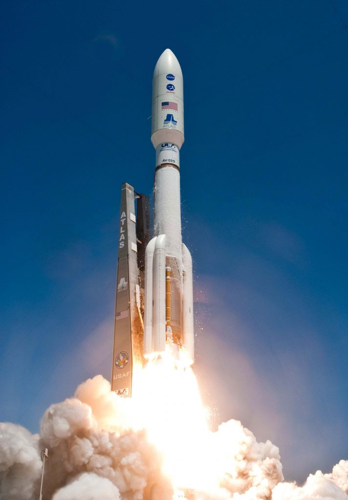 An Atlas V 551 rocket launches Juno into space on August 5, 2011. Credit: United Launch Alliance