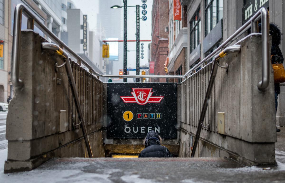 subway entrance in Toronto, Canada