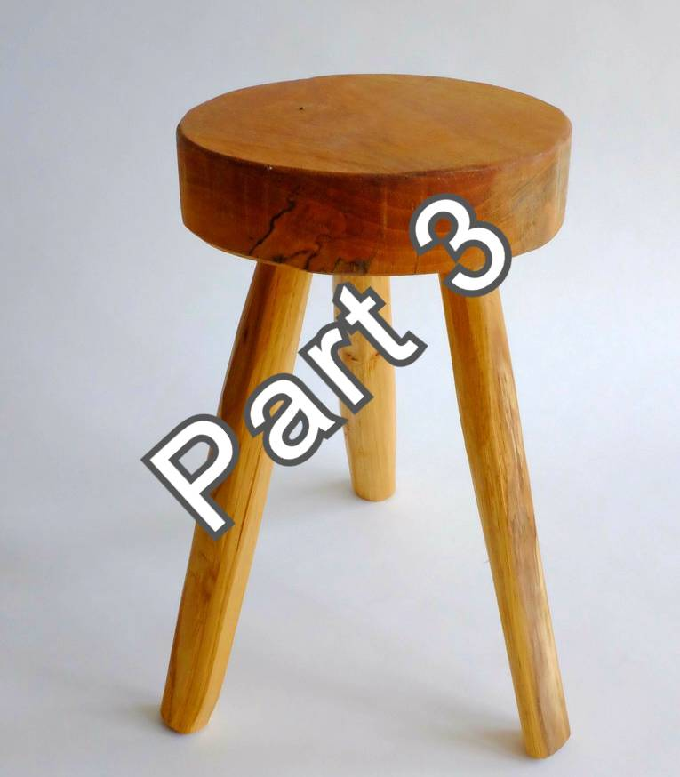 3 jegged stool - part 3