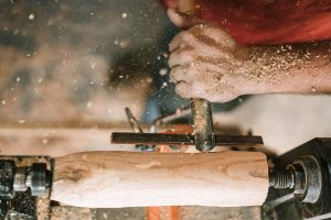 man woodworking