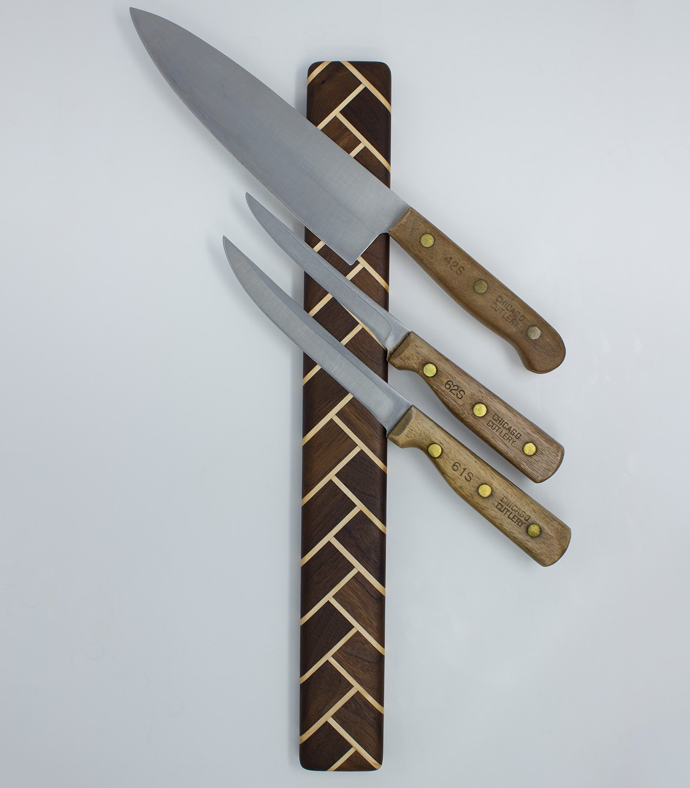 Herringbone Wood Magnetic Knife Holder ...