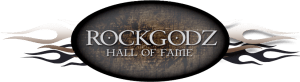Rockgodz Hall of Fame header logo.