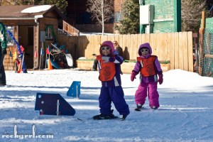 My nieces at the start of Little Bear Ski Camp