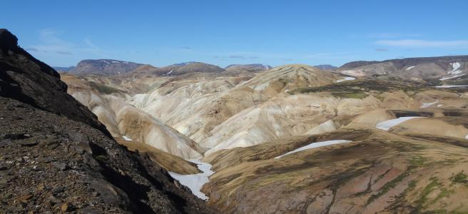 Colorful mountains at Landmannalaugar