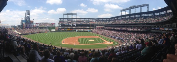 Panoramic View from our seats on the club level