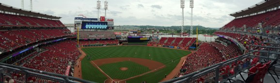 Panoramic view from our seats, Game 1 (Photo by A. Peterson)