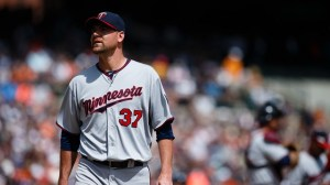 The Twins' Mike Pelfrey has thrown almost as many walks as strikeouts this year, while calling the pitcher-friendly Target Field home.  So you tell me: does he really deserve his 2.63 ERA?