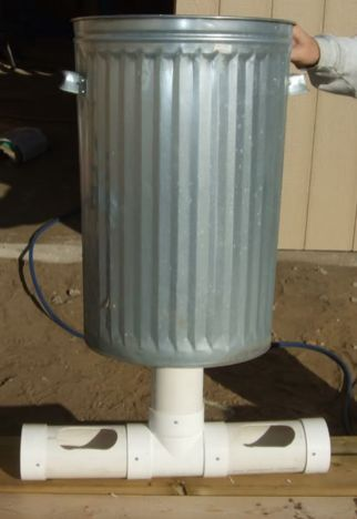 Chicken feeder from pvc 22