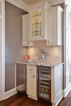 Corner bar cabinet for coffe and wine places 13