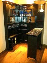 Corner bar cabinet for coffe and wine places 16