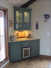 Corner bar cabinet for coffe and wine places 29