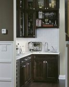 Corner bar cabinet for coffe and wine places 35