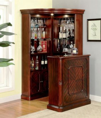 Corner bar cabinet for coffe and wine places 43
