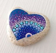 Creative diy painting rock for valentine decoration ideas 13