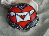 Creative diy painting rock for valentine decoration ideas 36