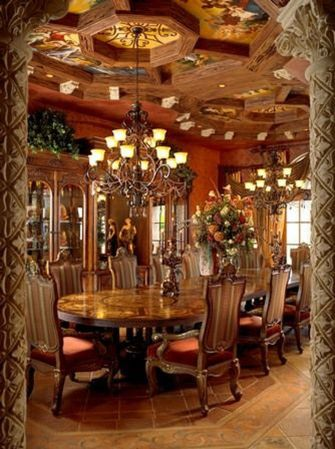Glorious and Luxury Western Dining Room Design 43