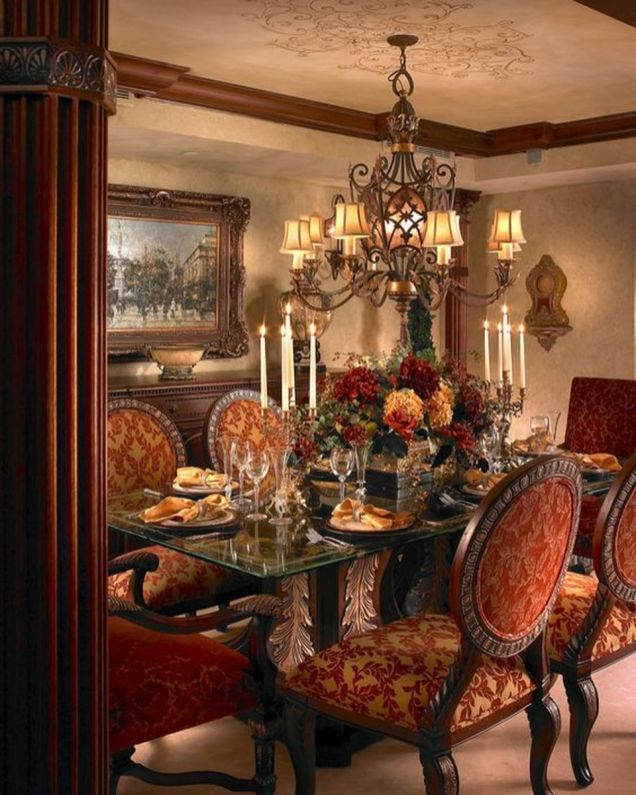 Glorious and Luxury Western Dining Room Design 50