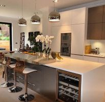 Modern and Contemporary Kitchen Cabinets Design Ideas 44