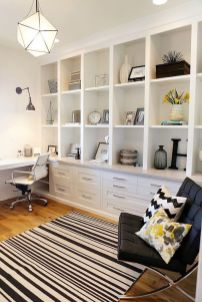 Awesome Built In Cabinet and Desk for Home Office Inspirations 16