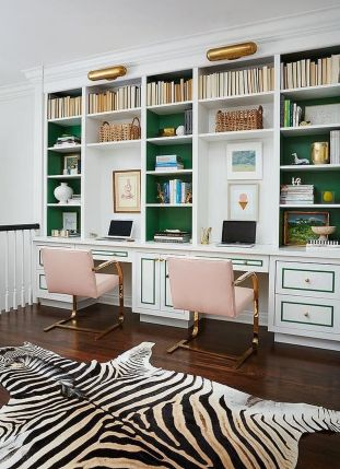 Awesome Built In Cabinet and Desk for Home Office Inspirations 24