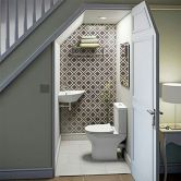 Awesome Cool Ideas To Make Toilet Under Stairs 14
