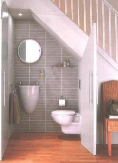 Awesome Cool Ideas To Make Toilet Under Stairs 15